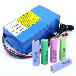 סוללת ליתיום 18650 48V 12AH 48V 500W סוללת אופניים חשמליים עם BMS