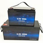 מחזור עמוק LiFePO4 סוללה סולארית 12V 100Ah / 200Ah עגלת גולף סוללת ליתיום יון