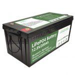 מכירה חמה 2.56KWh lifepo4 batteri 12v 200Ah 6000 מחזורי rv סוללה