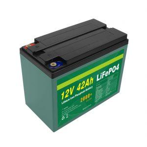 תחזוקה מותאמת אישית סוללת 12v 40ah 42ah Lifepo4 תאי Lifepo4 סוללה עם BMS