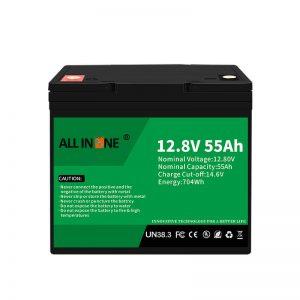 החלפת סוללות LiFePO4 לסוללת חומצת עופרת 12V 55Ah