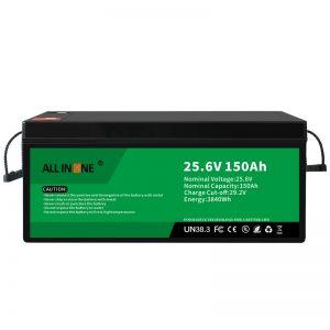 סוללת ליתיום יון 25.6V 150Ah LiFePO4 החלפת סוללת ליתיום יון 24V 150Ah