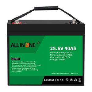סוללת ליתיום ברזל פוספט 25.6V 40Ah/החלפה