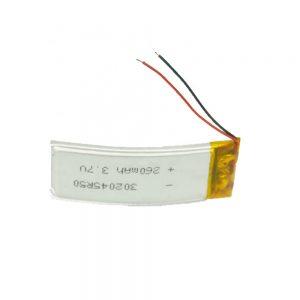 LiPO סוללה מותאמת אישית 302045 3.7V 260mAh