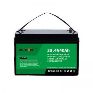 8.4V 40Ah סוללת ליתיום ברזל פוספט עבור VPP/SHS/ימי/רכב 36V 40Ah