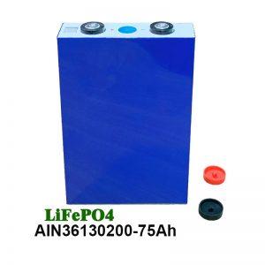 LiFePO4 סוללה פריזמטית 36130200 3.2V 75AH