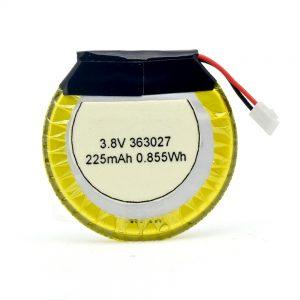 LiPO סוללה מותאמת אישית 363027 3.7V 225mAH